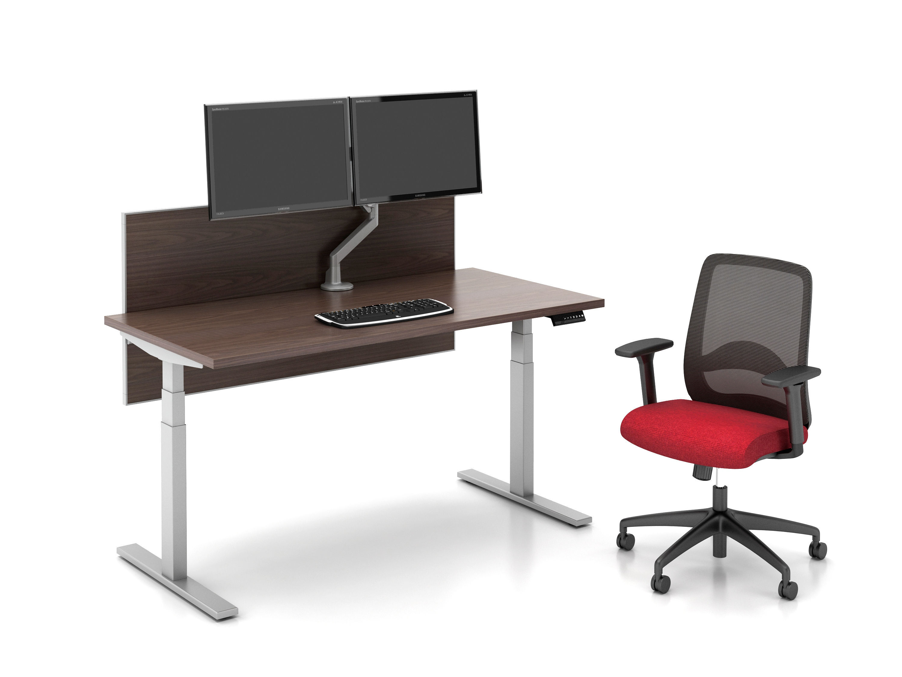Day-to-Day Height Adjustable Table at seated height