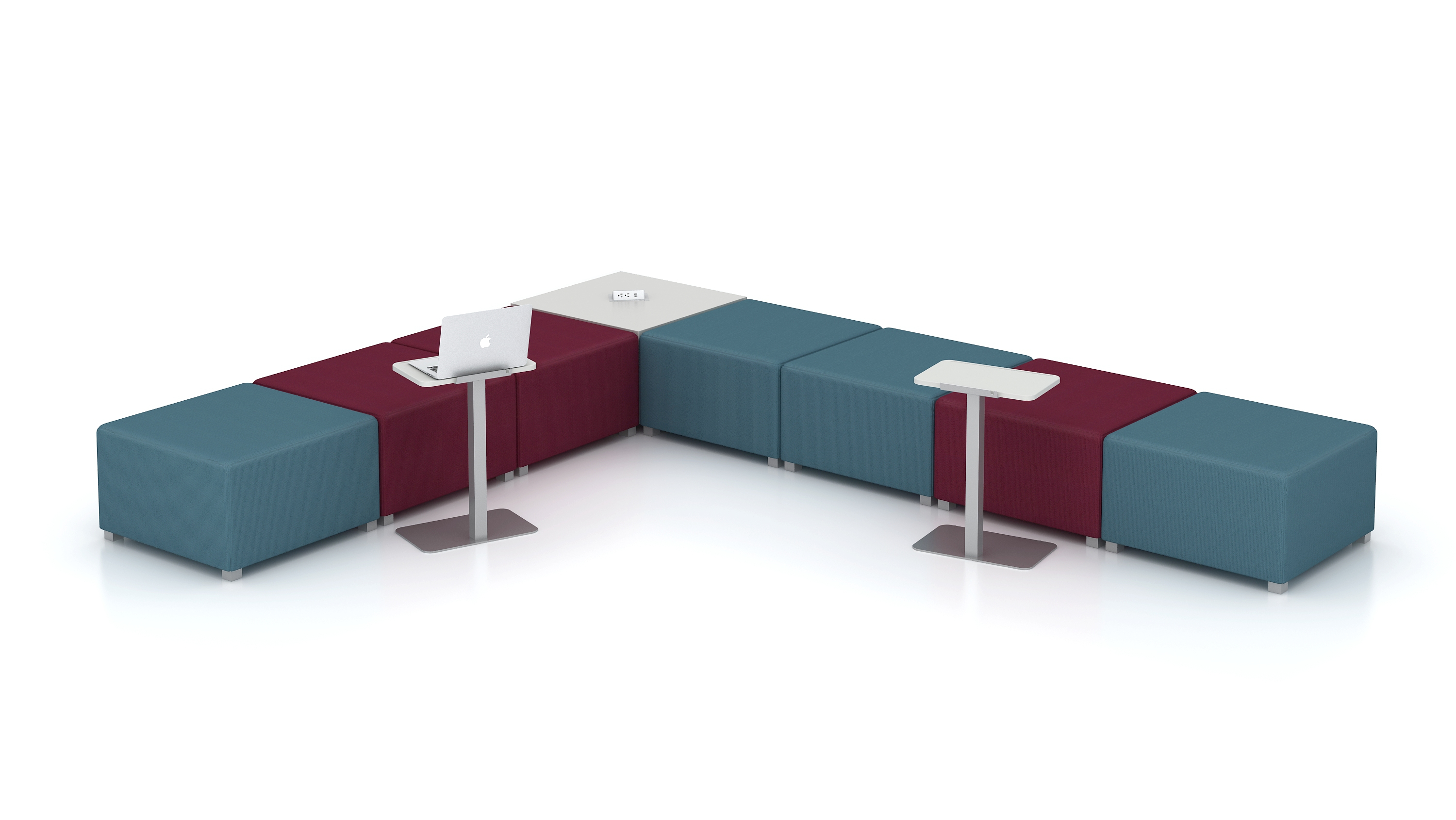 Laptop Tables with LB Backless Lounge