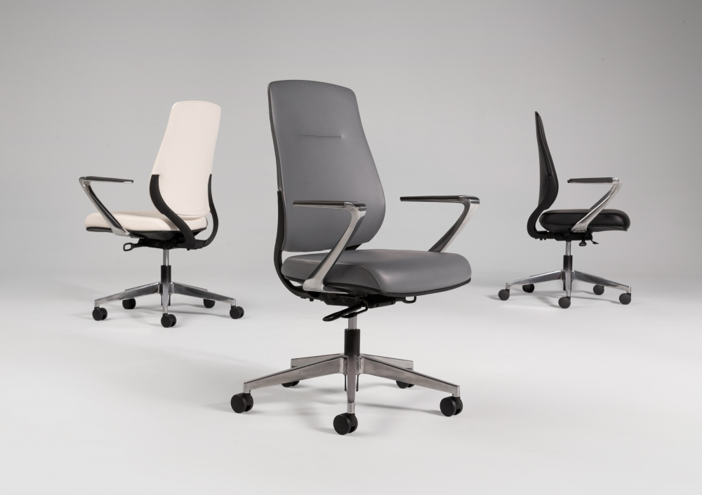 Auburn Conference Chair with three finish options: Ivory, Grey and Black