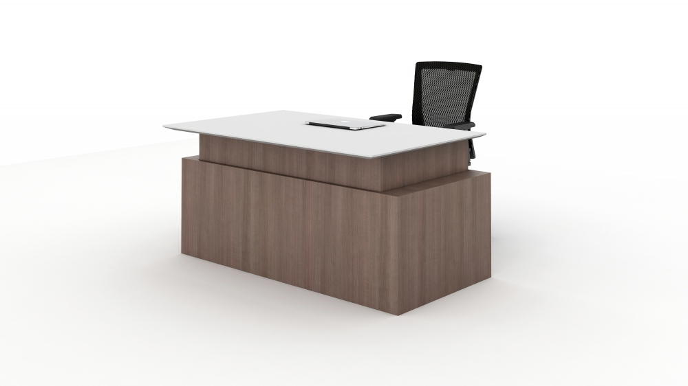 Telescoping Height Adjustable Executive Desk