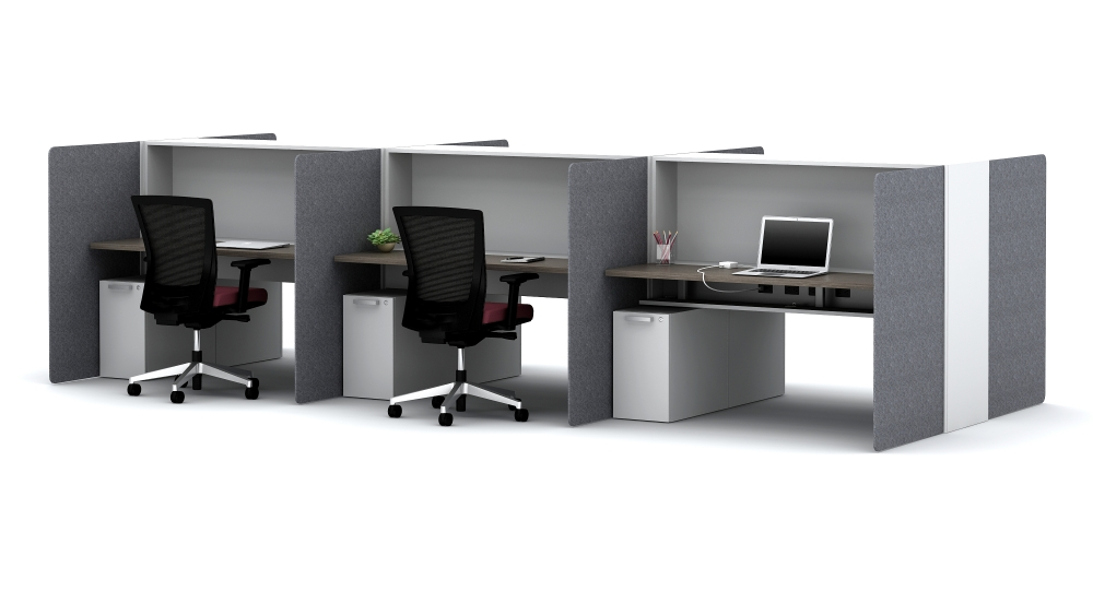High-Privacy Hoteling Workstations