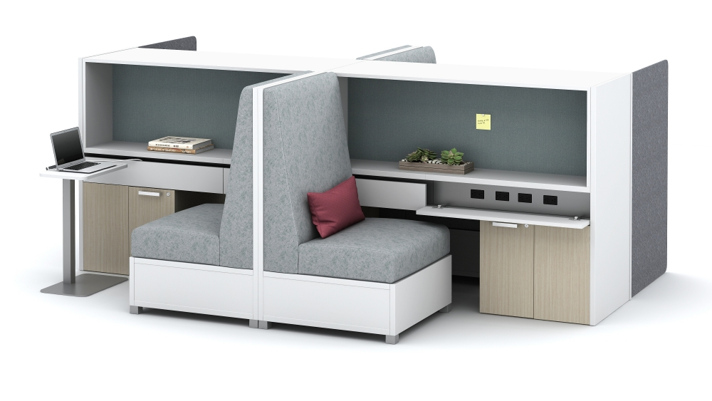 LB Lounge Integrated Touchdown Workstations