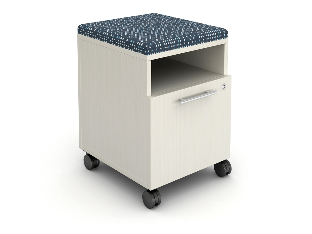 Calibrate 18 inch deep cubby pedestal with cushion