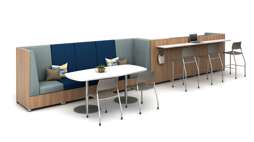 LB Lounge with Double Disc Table and LB Ledge