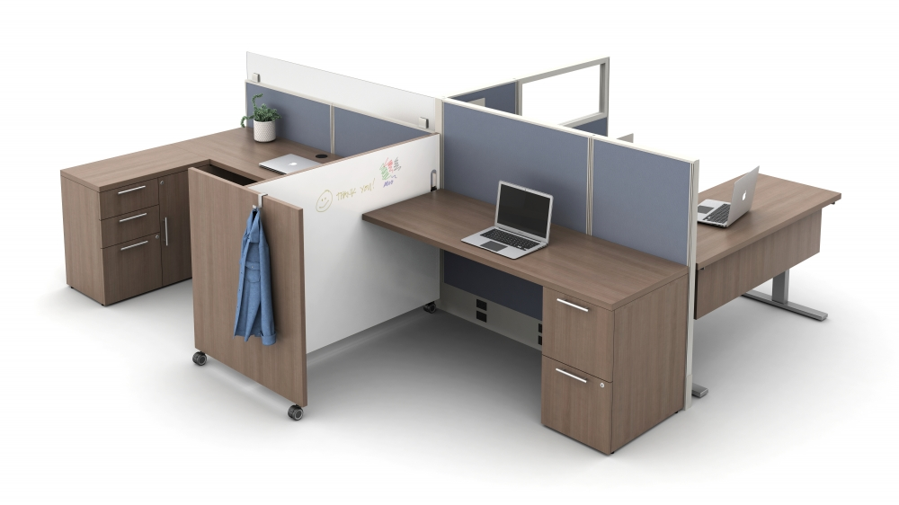 Used as a divider between workstations