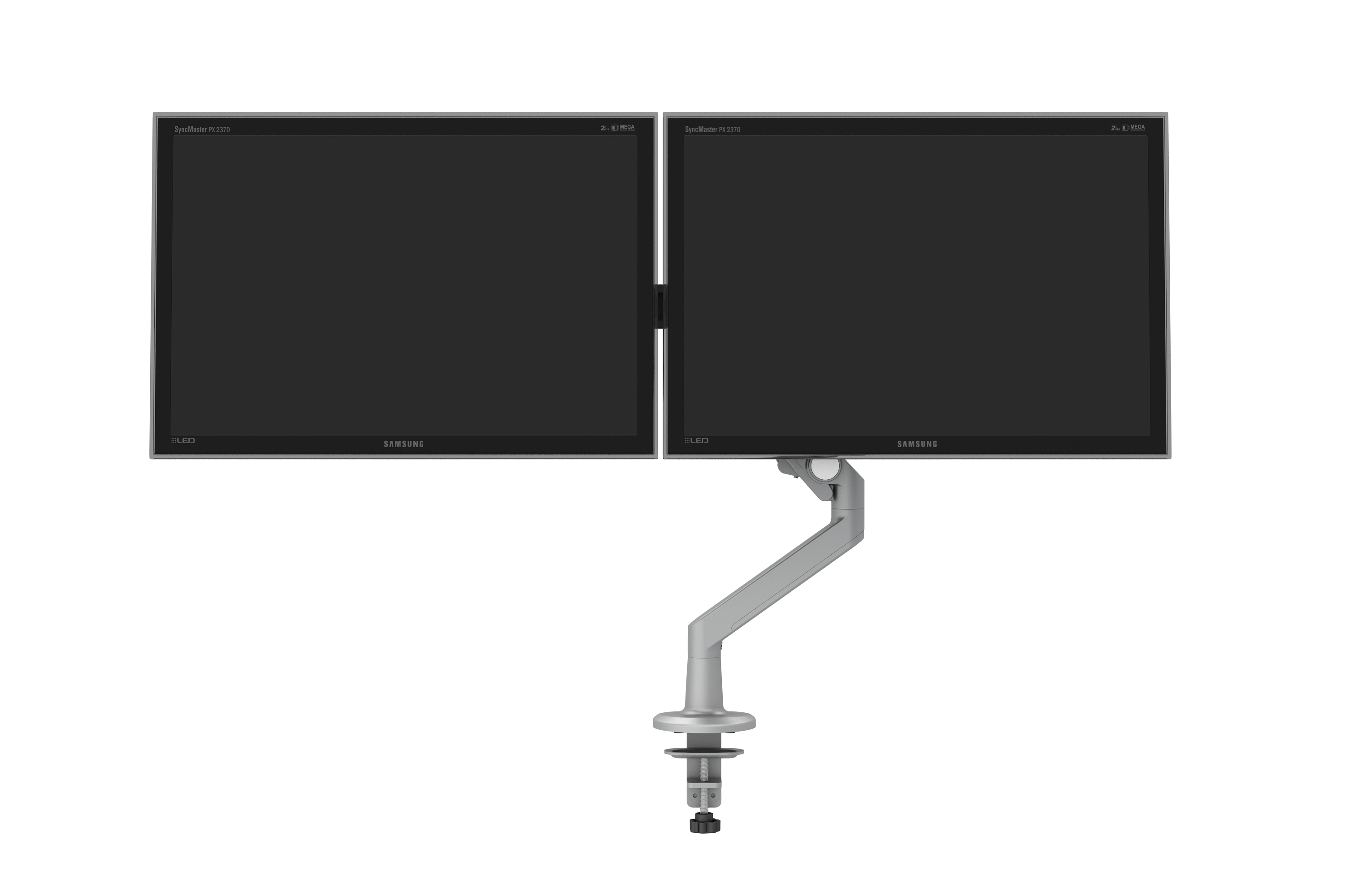 Monitor Arm for Shallow Depth Worksurfaces