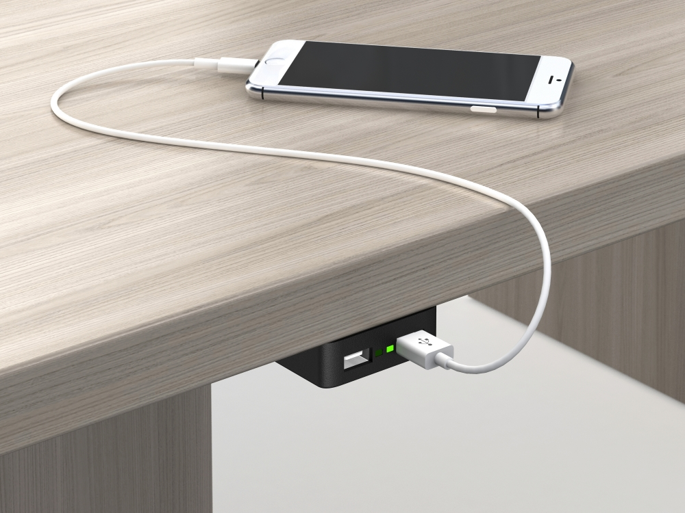 Undersurface Mounted USB e-dock 120