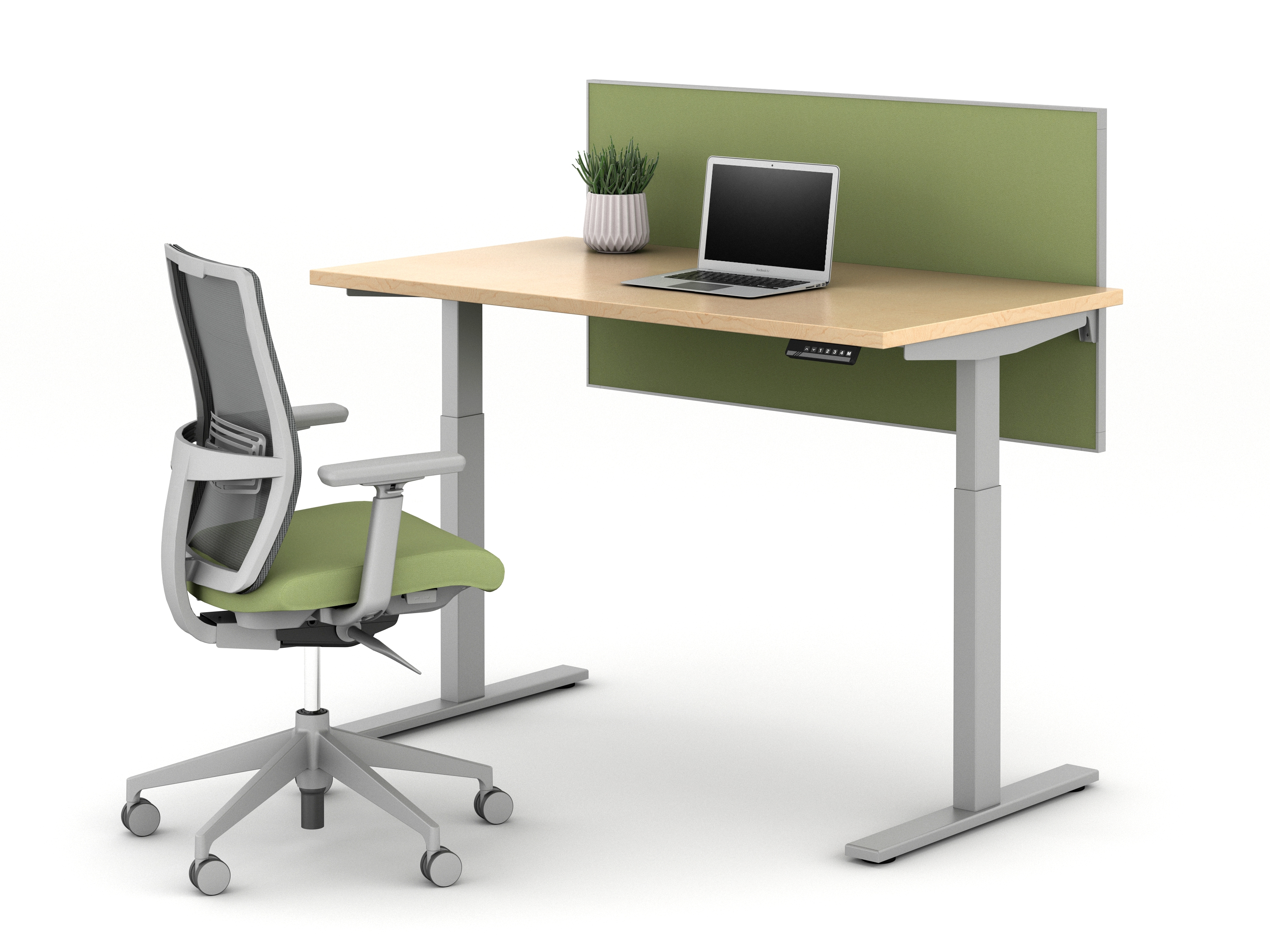E Series Height Adjustable Table with Screen