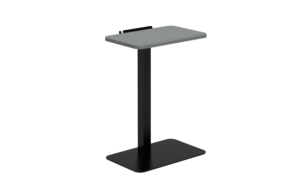 Laptop Table in Shark Grey and Black Base