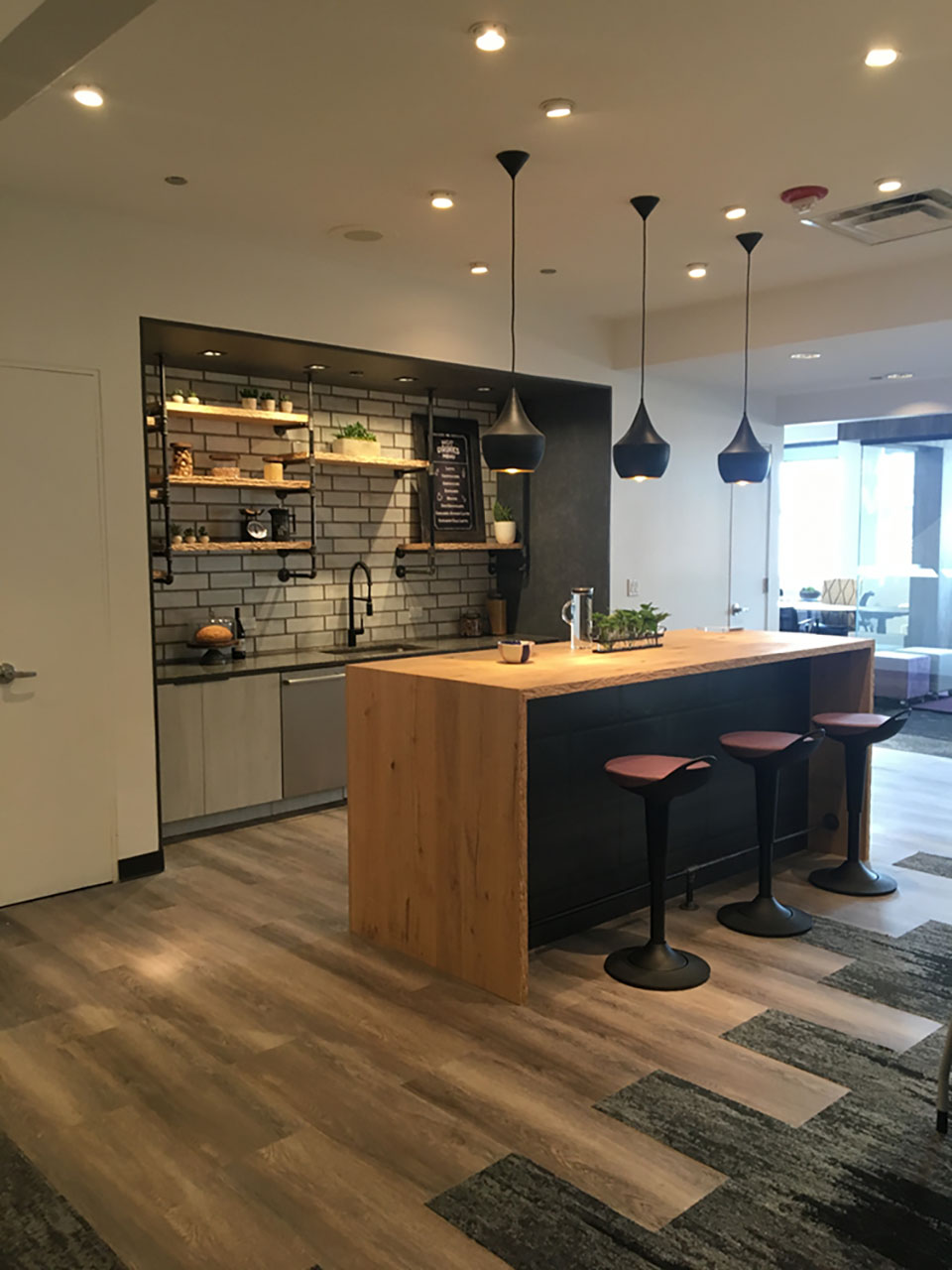 Cafe with custom counter and Rutland Perch Seating