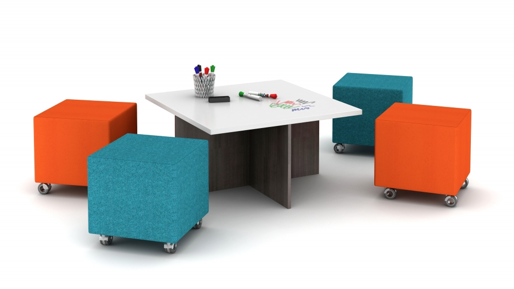 Informal Conferencing with Volker Nesting Table and Cubes
