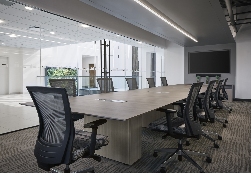 Formal Conference Room with Calibrate Conferencing and Upton Seating
