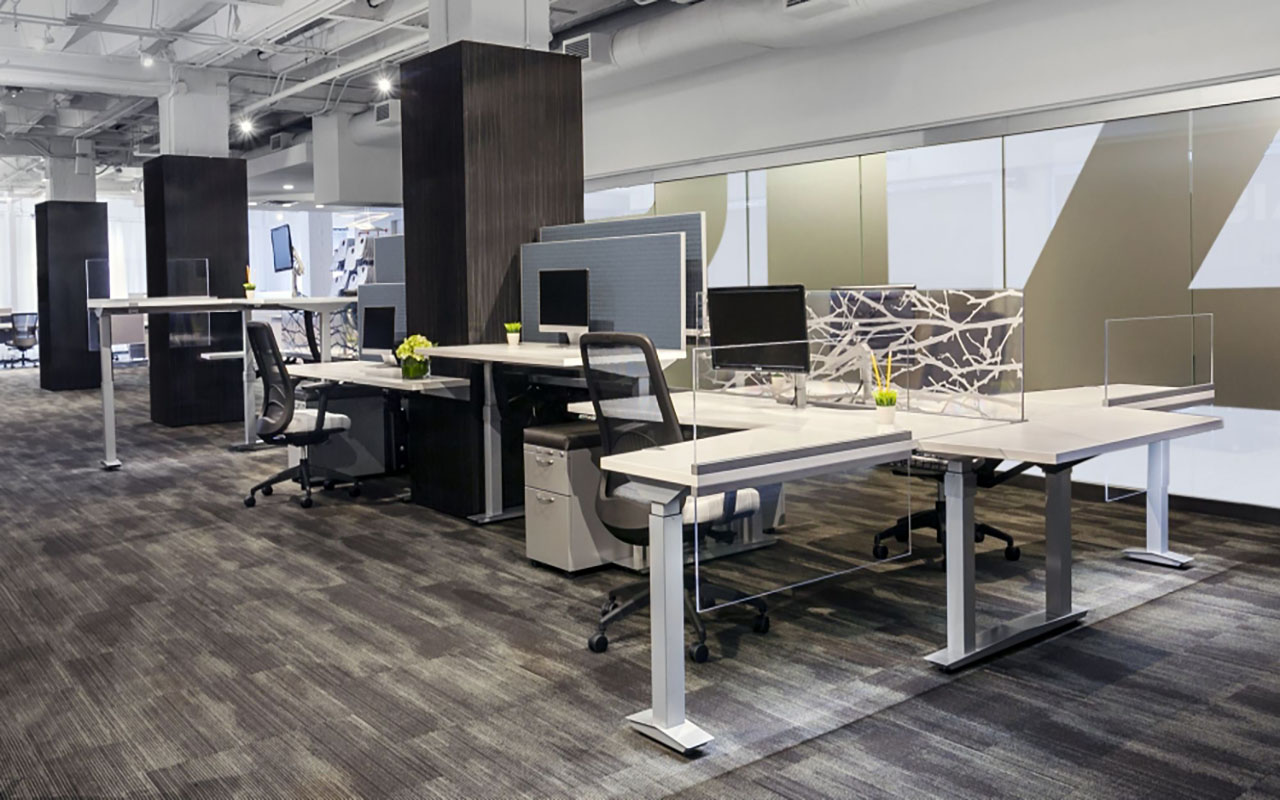 Aloft  with Height Adjustable Worksurfaces and Returns