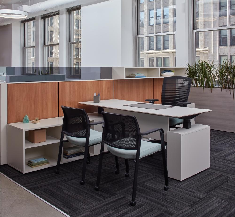 Height Adjustable Desk in New York Showroom